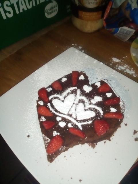 Dessert présenté lors d'une table