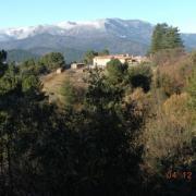 Mont Lozère vu de Chamborigaud